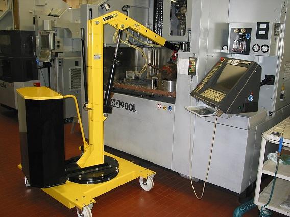 01M5移動式吊車應用-更換铣床夾具